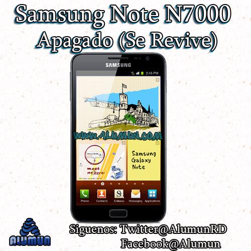 Samsung Galaxy Note GT-N7000 Unbrick/Hard-Bricked (Apagado). ¡Lo